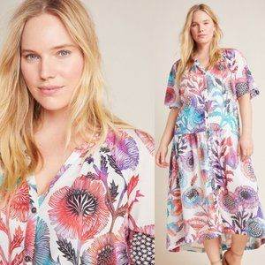 NWT Anthropologie Tugboat Azores Maxi Dress
